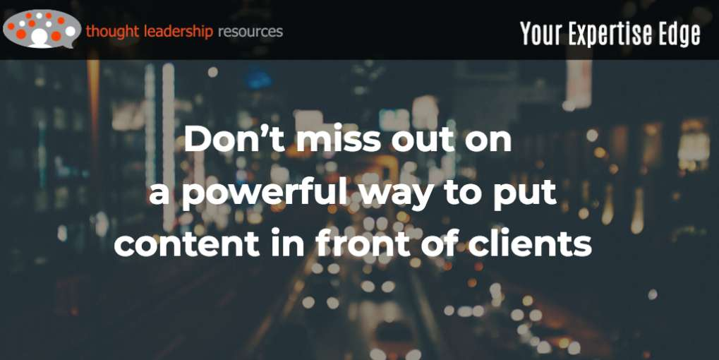 #98 Don't miss out on a powerful way to put content in front of clients
