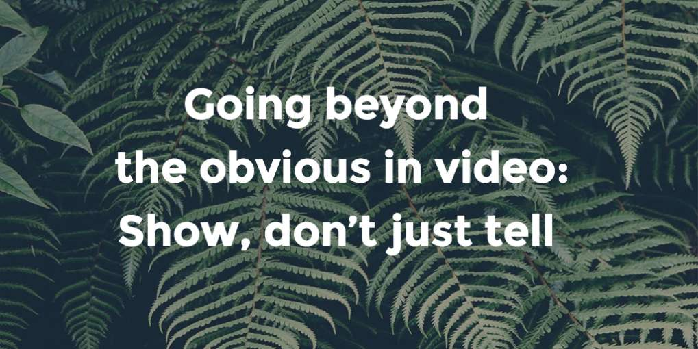 #37 Going beyond the obvious in video: show, don't just tell
