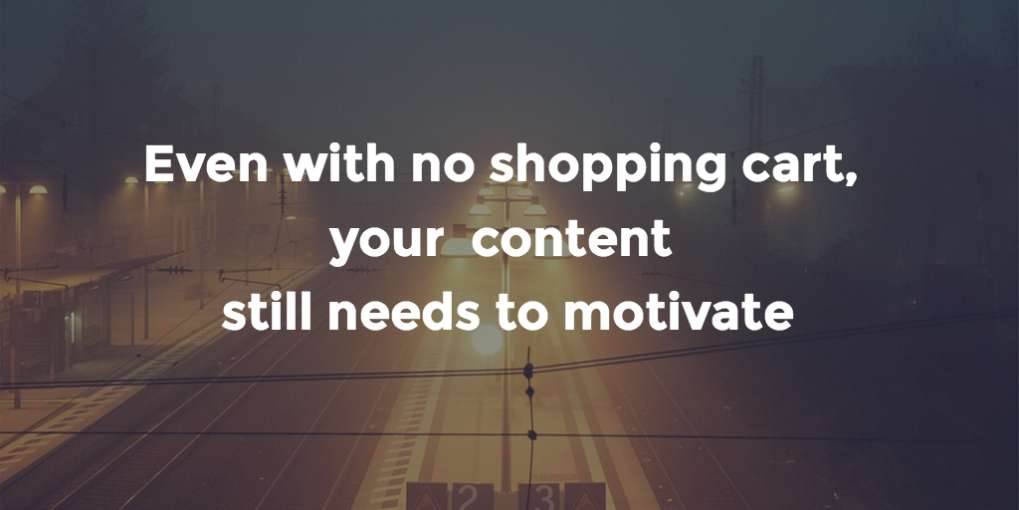 #25 Even with no shopping cart, your content still needs to motivate